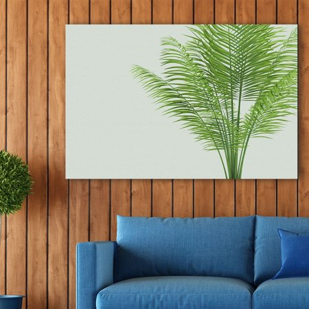 - wall26 Canvas Wall Art - Watercolor Style Plant with Narrow Leaves - Giclee Print Gallery Wrap Modern Home Decor Ready to Hang - 12x18 inches
