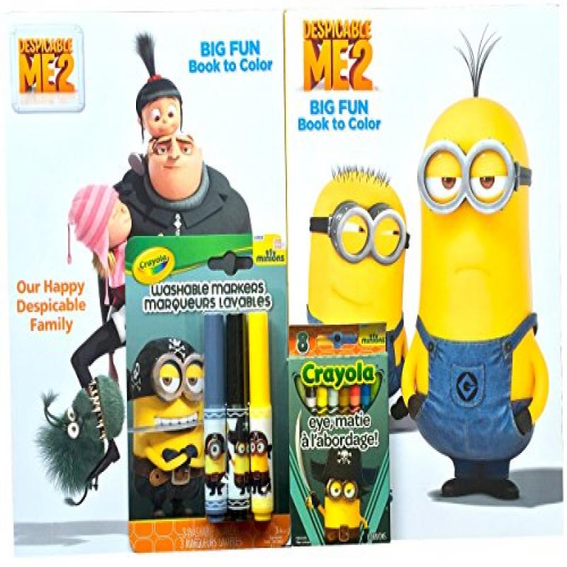 Minions Movie Exclusive Arts and Crafts Gift Set Minions Coloring Book Sets with Minion Washable Markers and Crayons Pirates Edition