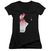 Bates Motel Criminal Profile Juniors V-Neck Shirt