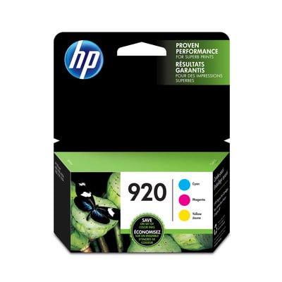 HP 920 3-pack Cyan/Magenta/Yellow Original Ink (920 Cartridge)