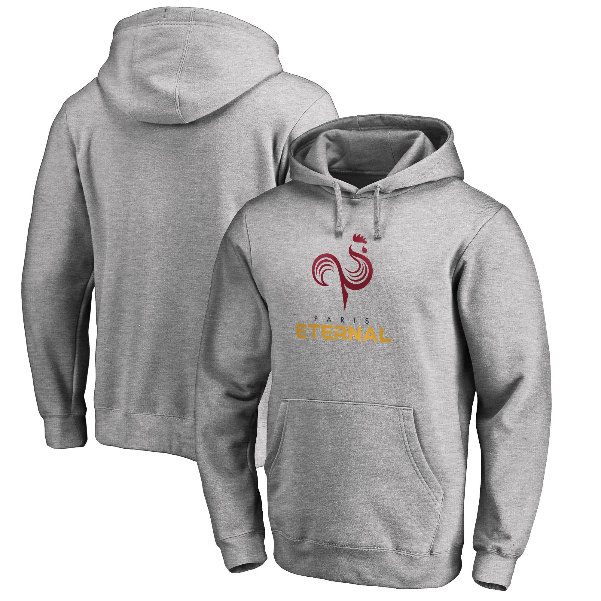Paris Eternal Fanatics Branded Team Identity Pullover Hoodie - Heathered Gray
