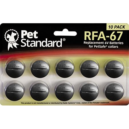 PetStandard Replacement Batteries for PetSafe RFA-67 (Pack of (Petsafe Battery Rfa 188)