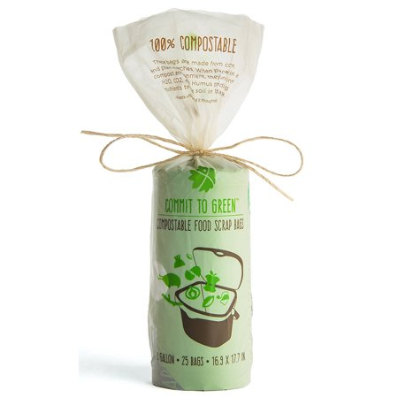 Commit To Green Super Strong Compostable Food Scrap Bags, 3 Gallon, 0.8mil thickness Bio Bag 3 Gallon Compost