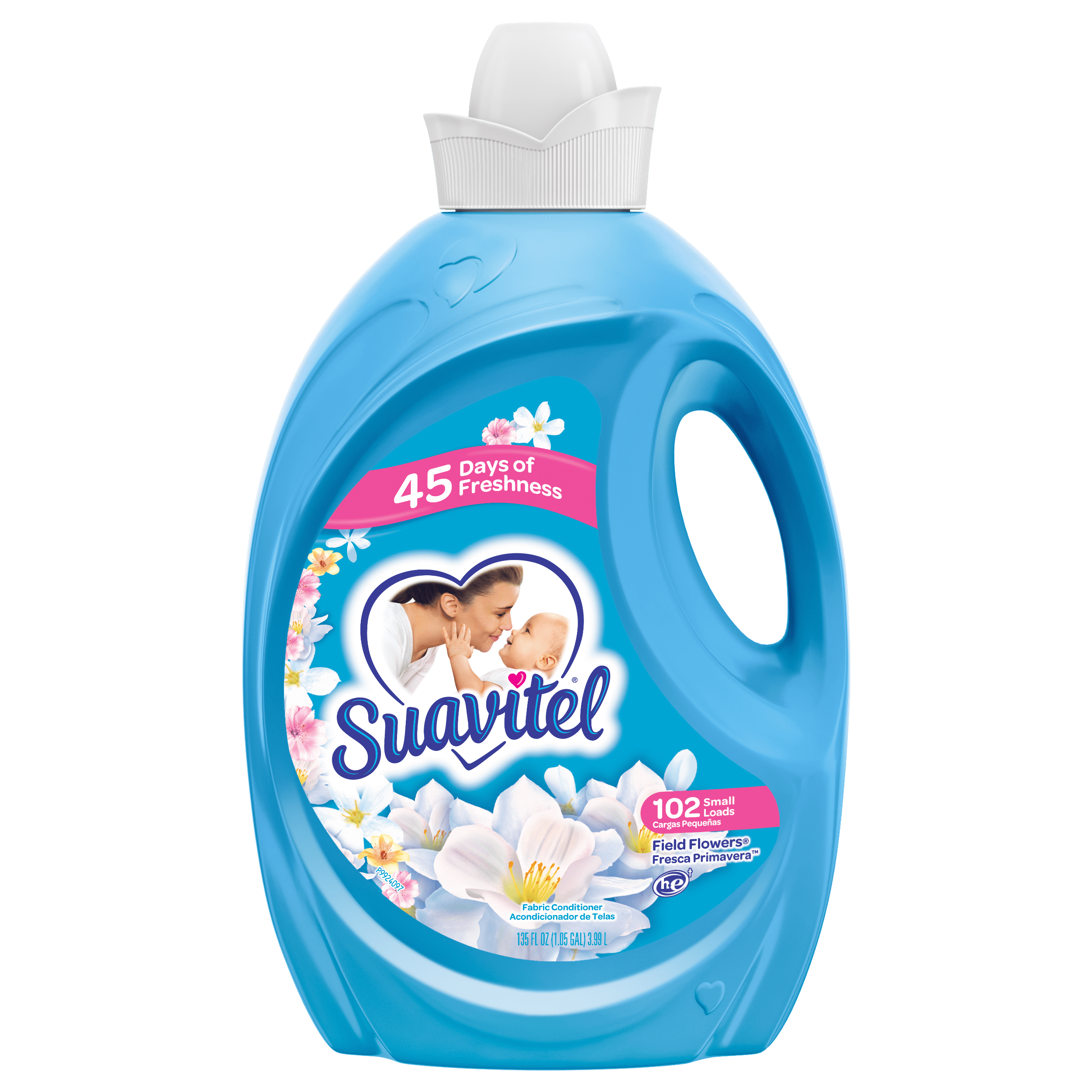 Suavitel Fabric Softener, Field Flowers, 135 Oz - Walmart.com
