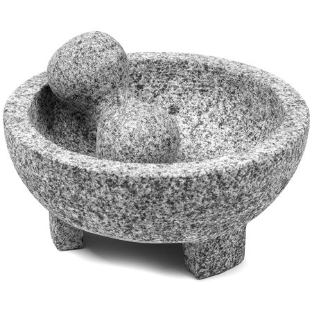 - USA MEXI-2011M Granite Molcajete 8-Inch, Gray, Made Of Granite By Imusa