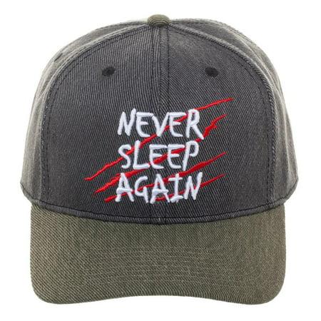 Freddy Krueger Fedora Hat (Nightmare on Elm Street Snapback Sublimated Print Freddy Krueger)