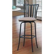 Roundhill Square Seat Bar Counter Height Adjustable Metal Bar Stool by Overstock