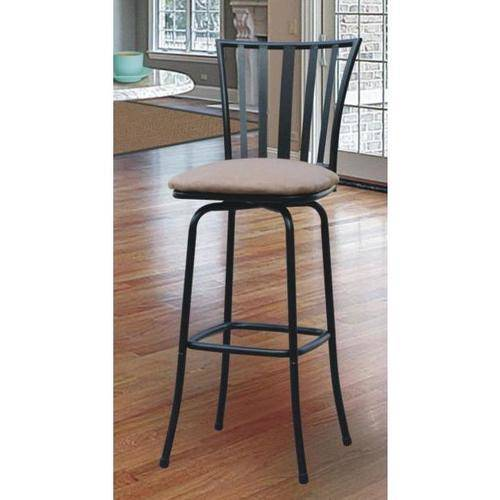 Roundhill Square Seat Bar/Counter Height Adjustable Metal Bar Stool