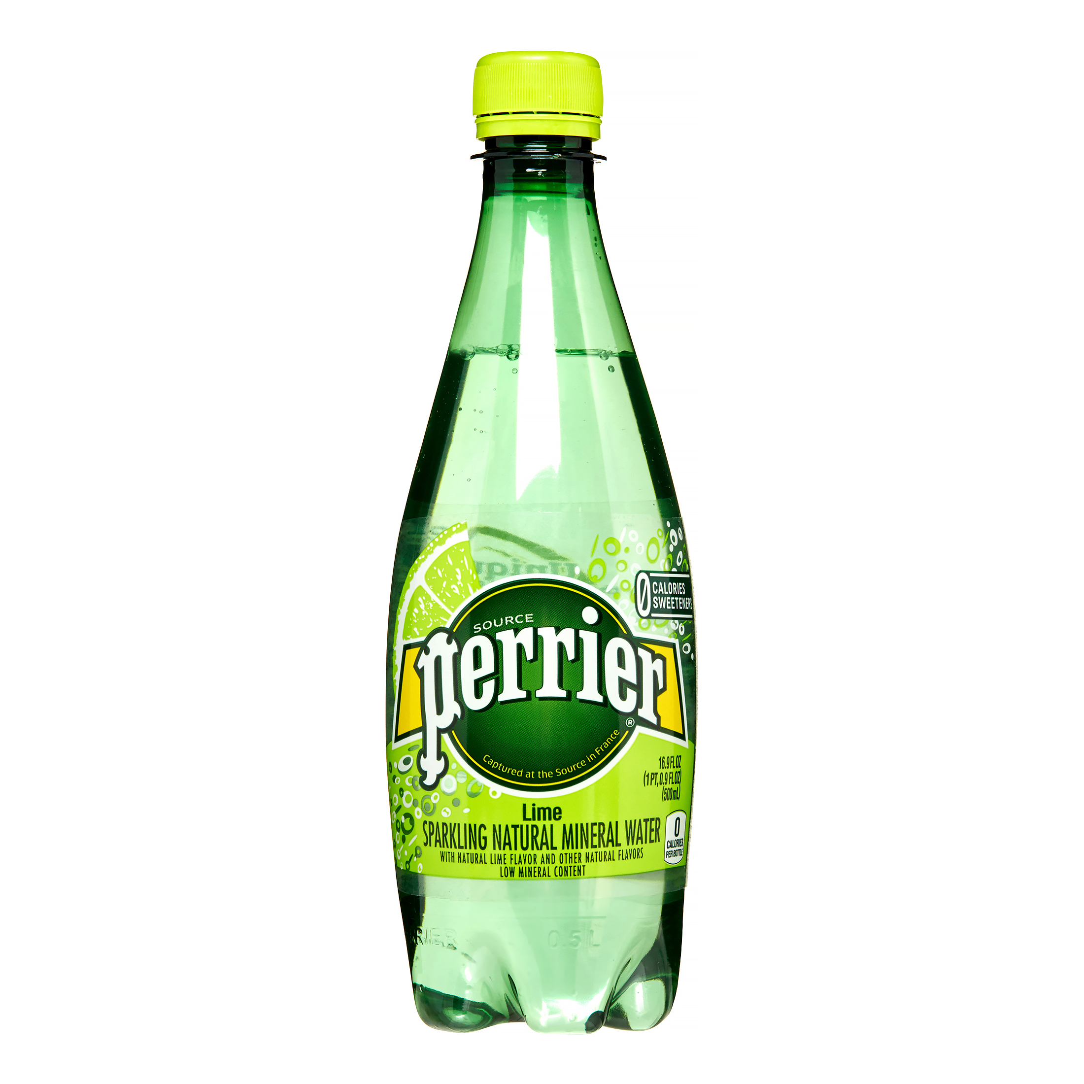 Perrier Sparkling Natural Mineral Water, Lime, 16.9 Fl Oz, 24 Count