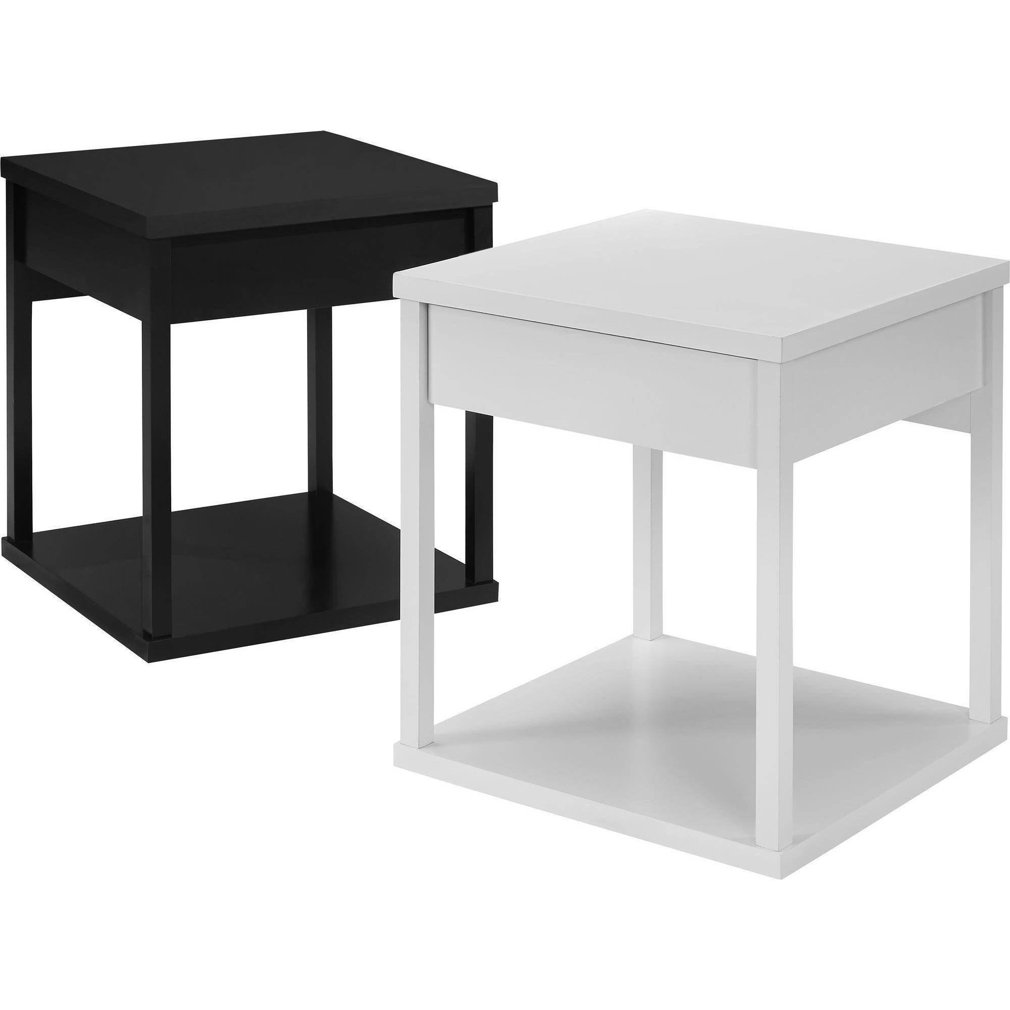 Mainstays Parsons End Table with Drawer Multiple Colors Walmart