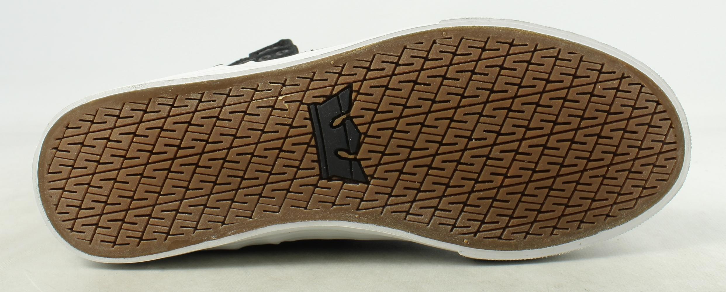 New Supra Mens Skytop D Black-White Fashion Shoes Size 8