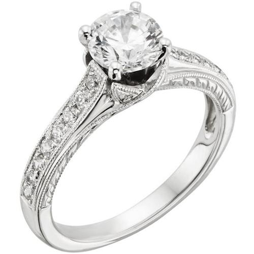 Sofia  14k White Gold 1 1/4ct TDW IGL Certified Diamond Engagement Ring