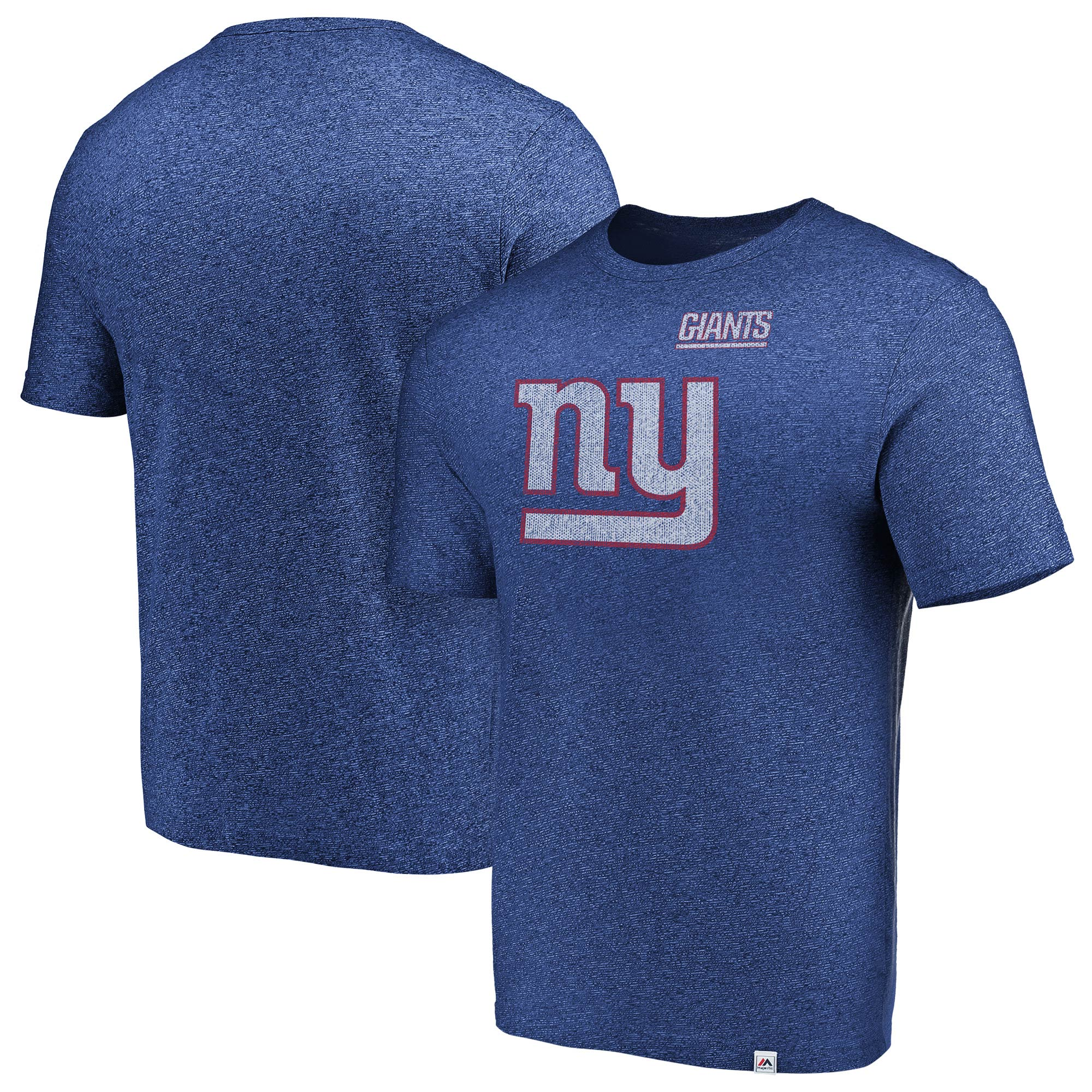 New York Giants Majestic Static Logo Marled T-Shirt - Royal