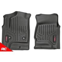 Rough Country Floor Liners compatible w/ 2014-2018 Chevy Silverado GMC Sierra Rugged Weather Floor Mats