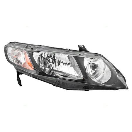 06-11 Honda Civic Sedan Passengers Headlight Unit Right Headlamp w/ Clear Park Lens 33101SNCA01 Honda Civic Sedan Headlamp Headlight
