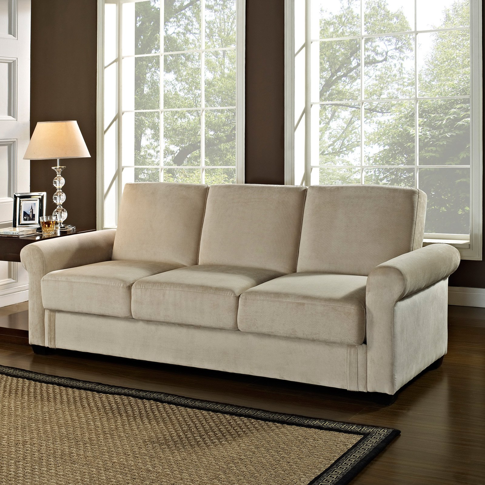 Serta Dream Thomas Convertible Sofa - Light Brown
