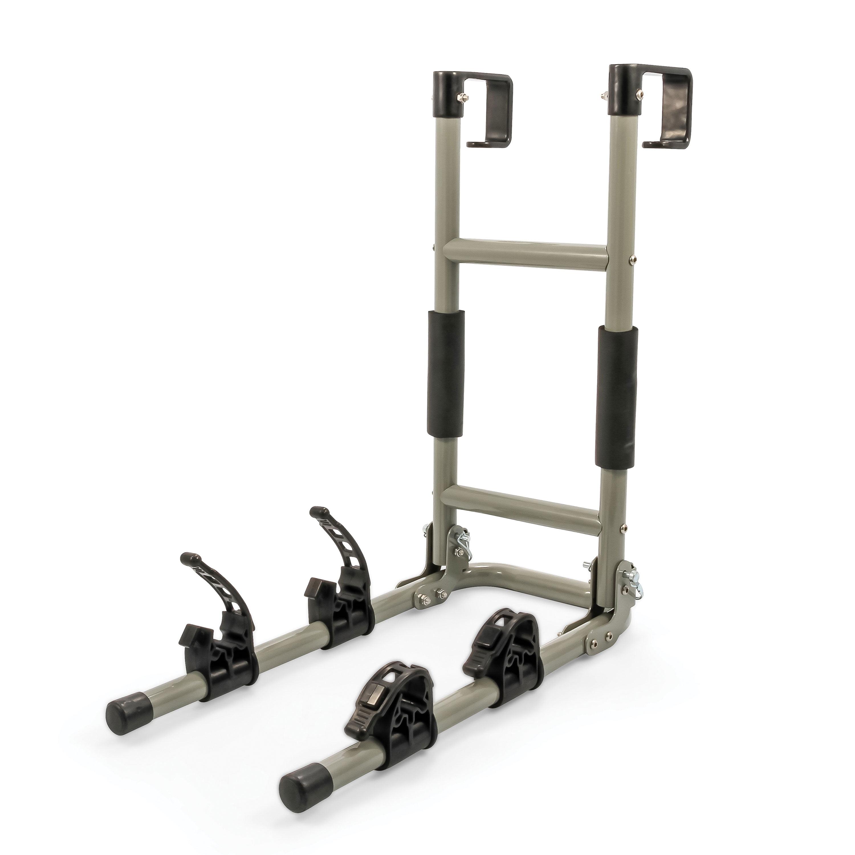 Camco 51492 Rv Ladder Mount Bike Rack For Easy Transport Of 2 Bikes Walmart Com Walmart Com