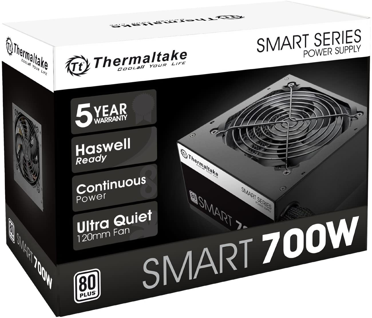 Thermaltake Smart 700W 80+ White Power Supply
