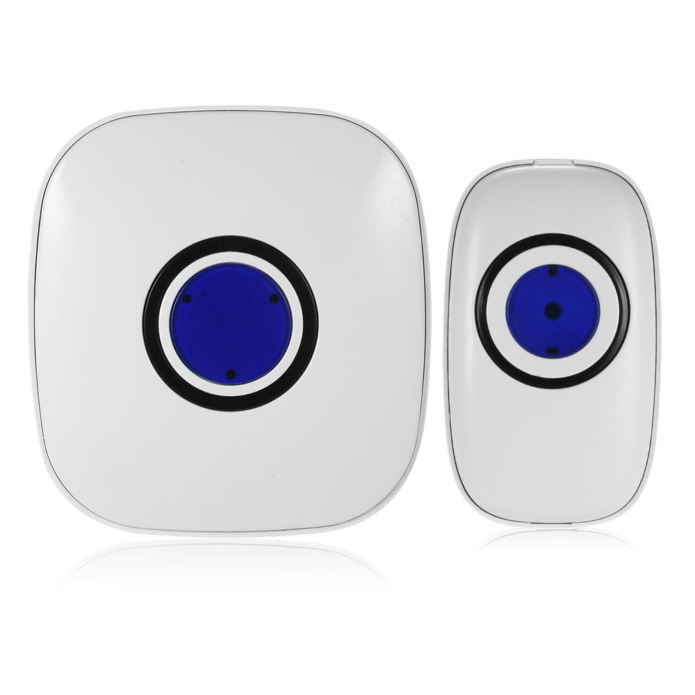 Wireless Smart Doorbell with 1 Remote Button and 1 Receiver 38 Melodies 3 Level Volume Waterproof Doorbell