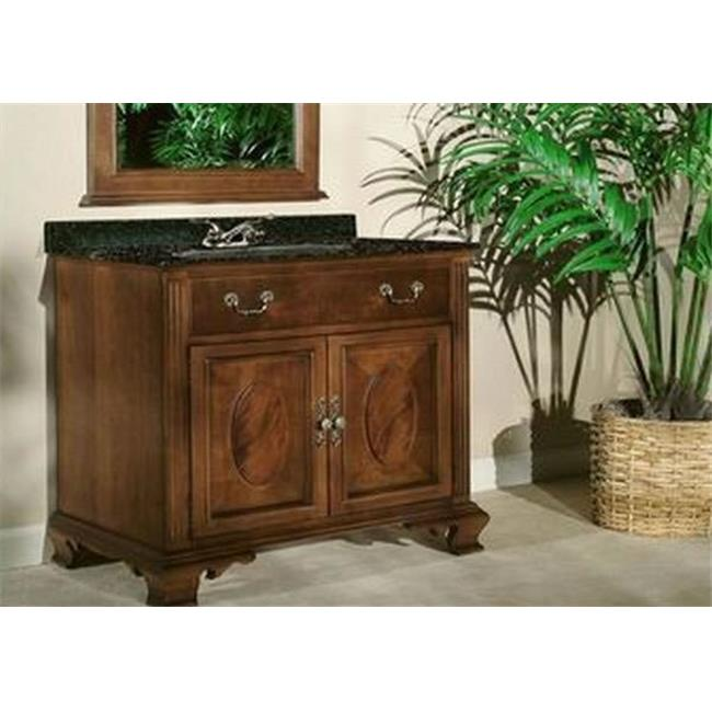 Kaco International 626-3000 Dorchester 30 inch Vanity with Brown Cherry Krylon Finish  Vanity Only