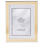 Silver and Gold 8x10 Metal Picture Frame