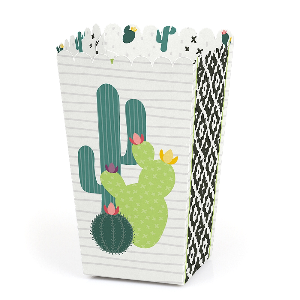 Prickly Cactus Party - Fiesta Party Favor Popcorn Treat Boxes - Set of 12