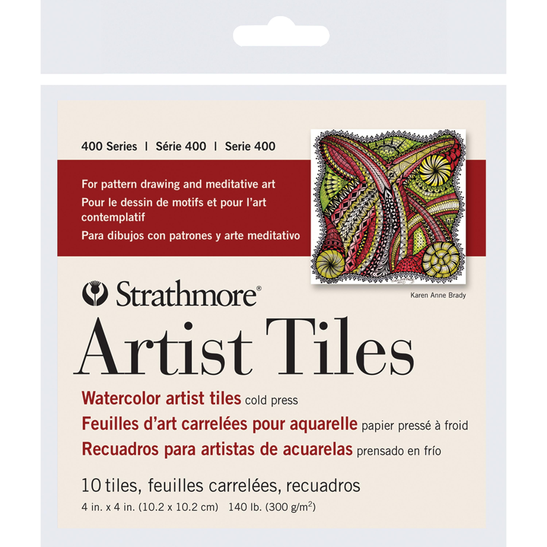 Strathmore Artist Tiles, 4in x 4in, Watercolor