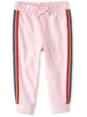 The Children's Place Solid Rainbow Side Stripe Drawstring Jogger (Baby Girls & Toddler Girls)