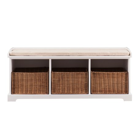 Swell Loring Entryway Storage Bench White Walmart Com Pabps2019 Chair Design Images Pabps2019Com