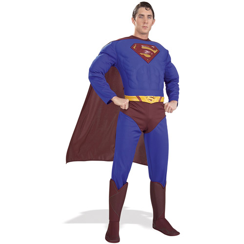 Superman Adult Muscle Halloween Costume, Size: Men's - One Size