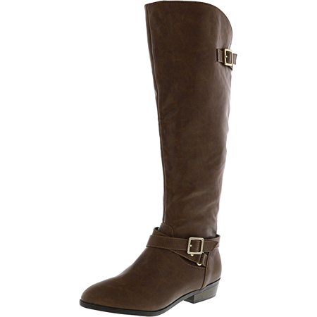Material Girl Women's Capri Wide Calf Cognac Knee-High Boot - 7M