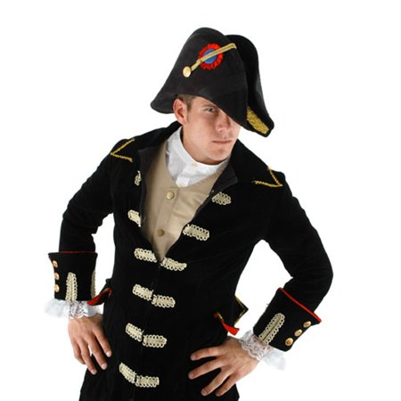 Admiral Bicorn Military General Adult Black Hat Costume Accessory One - Us Military Costumes