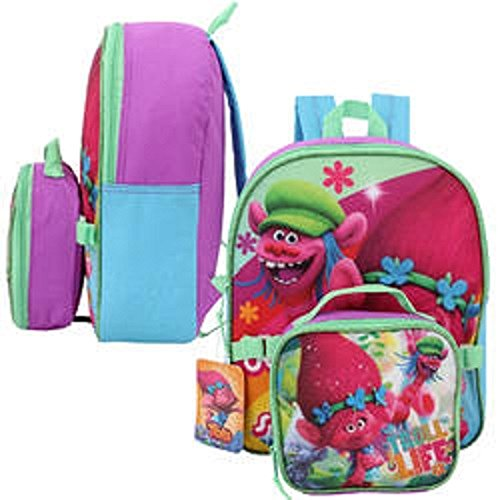 Dreamworks Trolls Small Backpack with Lunch Bag - 12""