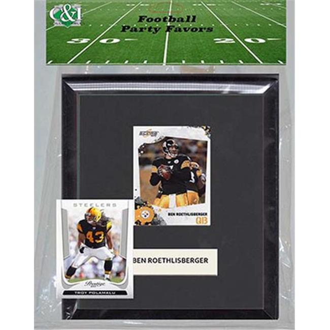 Candlcollectables 67LBSTEELERS NFL Pittsburgh Steelers Party Favor With 6 x 7 Mat and Frame