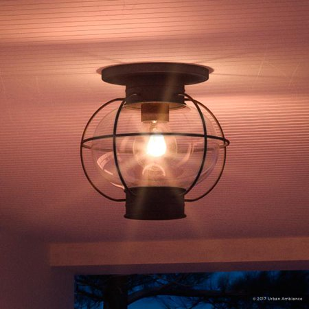 Urban Ambiance Luxury Nautical Outdoor Ceiling Light, Small Size: 10.5