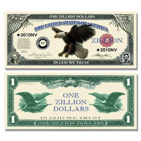 "One Dollar Silver Certificate (25 Zillion Dollar Bills with Bonus ""Thanks a Million"" Gift Card Set )"