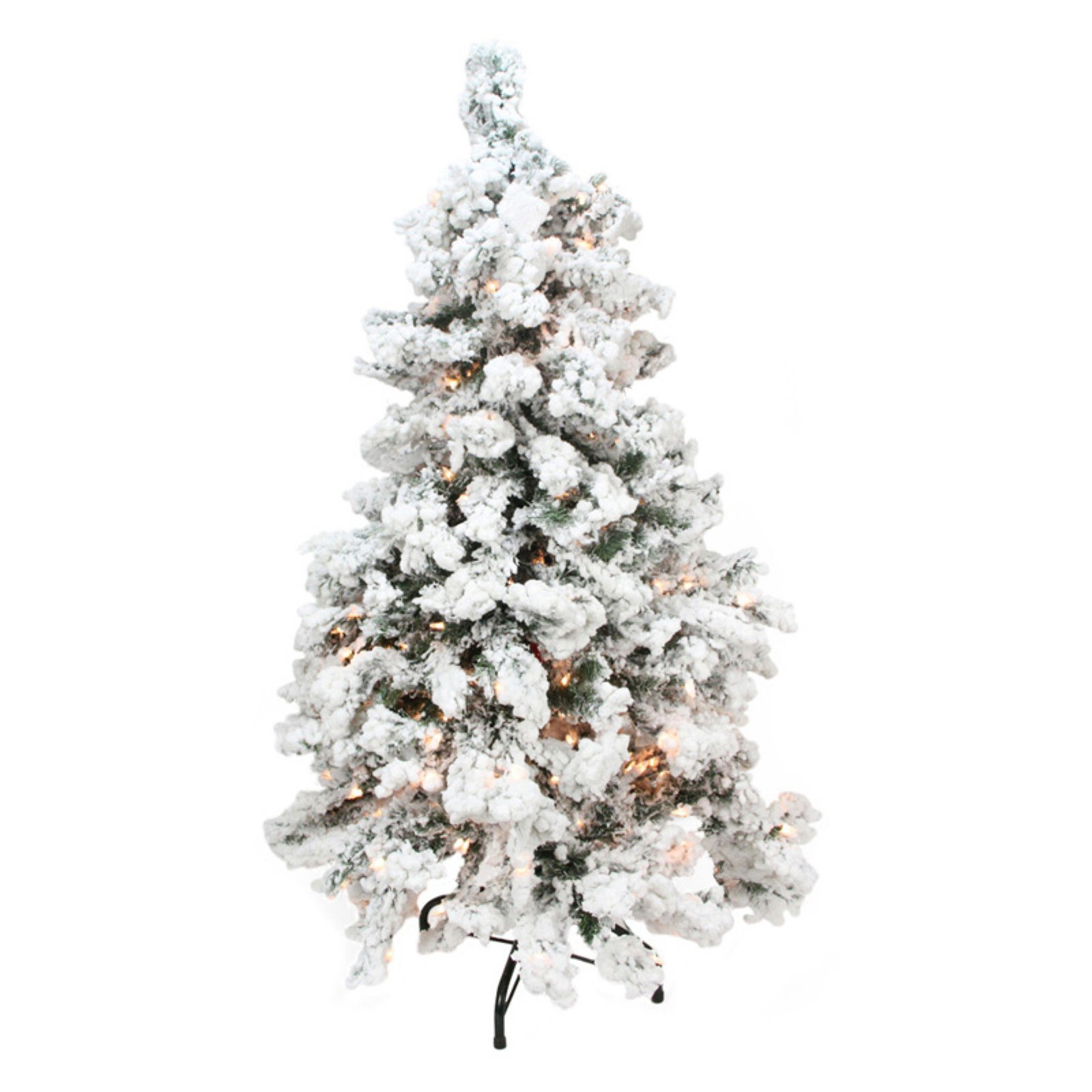 12 Ft Flocked Christmas Tree: Northlight 2 Ft. Heavily Flocked Medium Pine Pre-lit