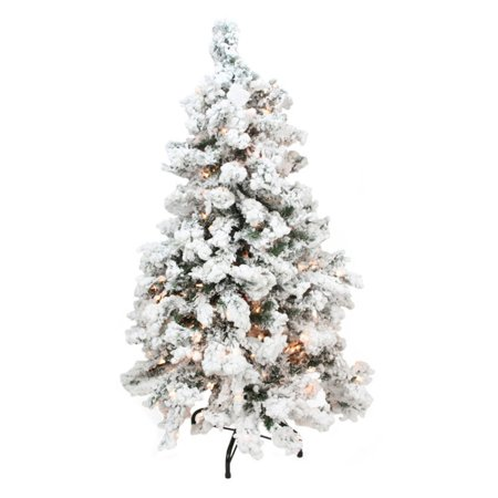 Northlight 2 ft. Heavily Flocked Medium Pine Pre-lit Christmas Tree - Medium Christmas Tree