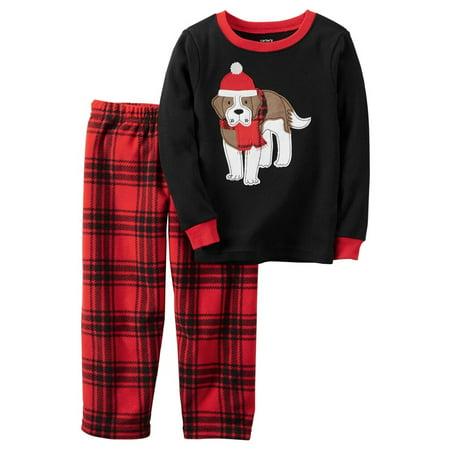 b95208f972 Carter s - Carters Baby Boys 2-Piece Snug Fit Cotton Christmas PJs Ho Ho Ho  Black - Walmart.com