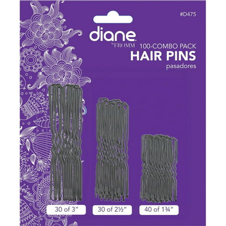 Diane Hair Pins Assorted Size, Black 100 (Hair Pin Lace Vest)