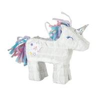 Mini Unicorn Pinata Favor Decoration, 7in x 6.5in
