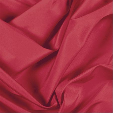 Silk Cotton Faille - Red Silk Faille, Fabric By the Yard