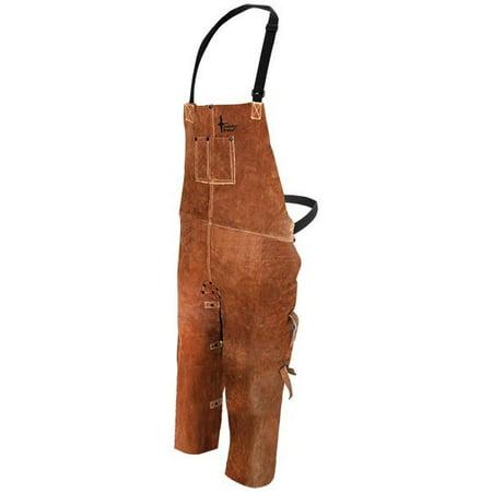 Bob Dale 60-1-648 Welding Apron Leather Split Leg Bib Apron 24x48 Brown