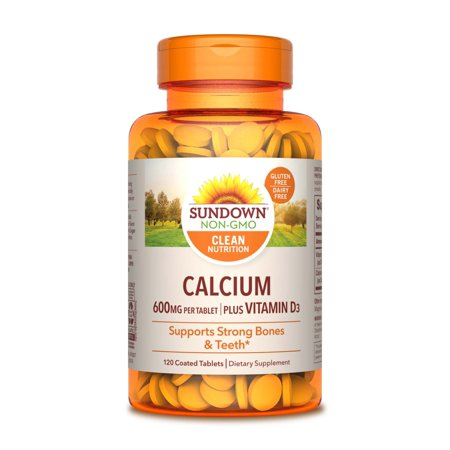 Sundown Naturals Calcium 600mg Dietary Supplement Coated Tablets - 120 (120 Tablets Dietary Supplement)