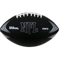 Wilson Sporting Goods NFL Mini Rubber Youth Football, Black