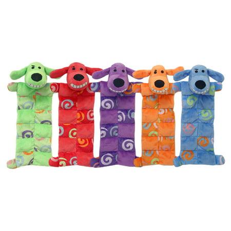 Multipet Plush Faux Fur Squeaker Mat Loofa Dog Toy with Swirls ()