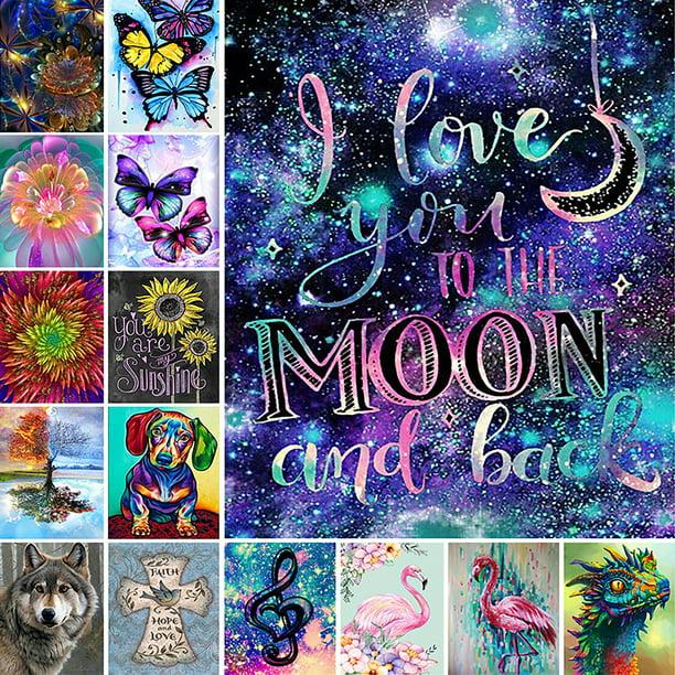 5D Diamond Painting Full Drill Flowers Animal Embroidery Cross Stitch Craft