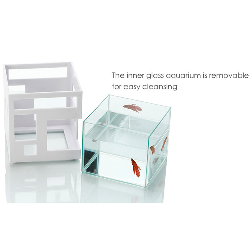 Umbra Glass Fish Bowl Tank Hotel Pet Supplies Aquarium Fishhotel Water  Stackable - Walmart.com