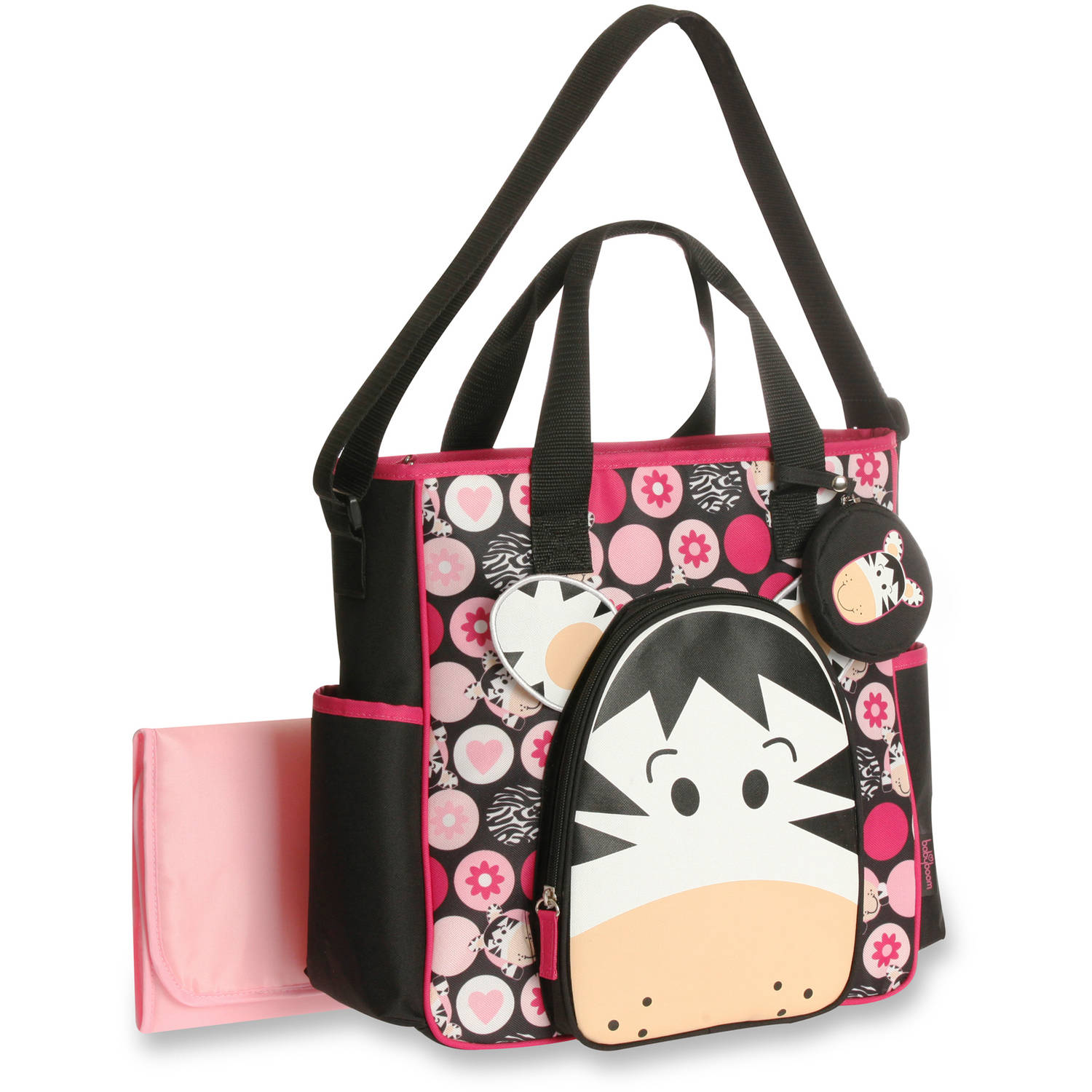 Baby Boom Zebra Face Tote Diaper Bag by Baby Boom