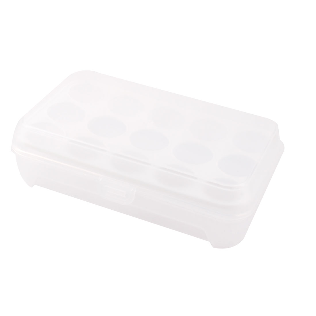 Refrigerator Plastic Rectangle Shaped 15 Slots Eggs Storage Container Box White